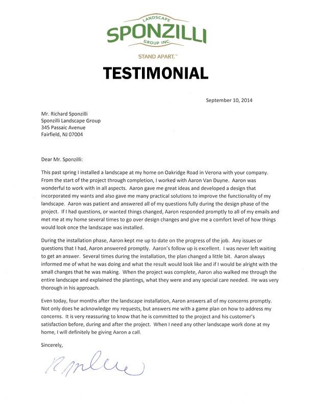 Sponzilli Customer Testimonial