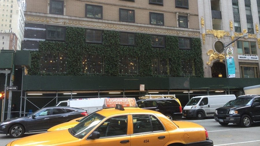 Green Wall Installation at 1414 6th Ave, NY