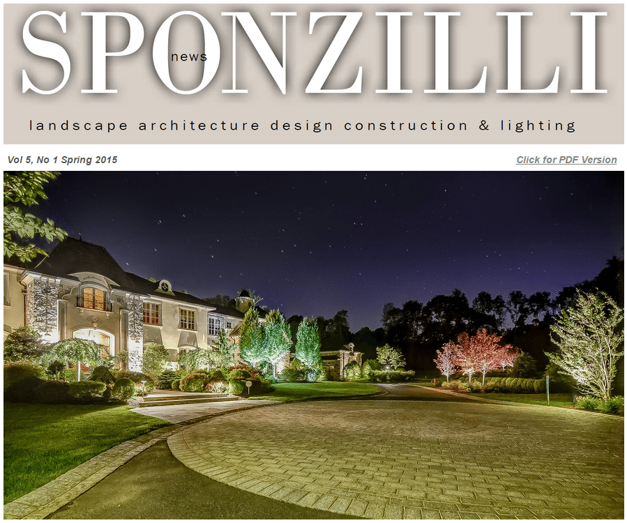 Sponzilli Spring Newsletter Cover