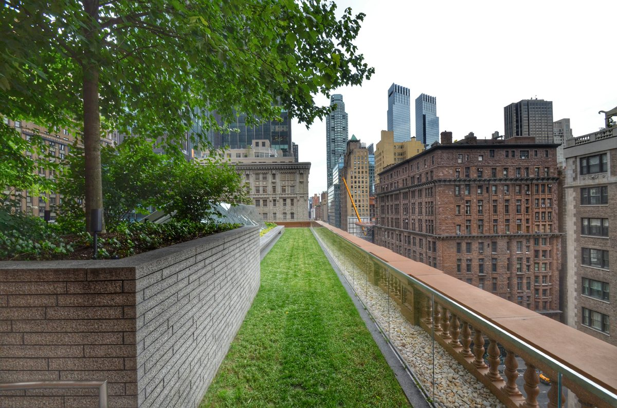 Carnegie Hall Green Roof Terrace View