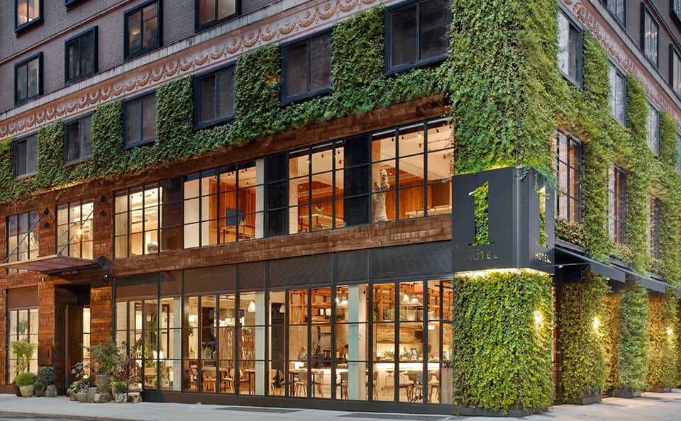 The Green Wall - Living Wall at 1 Hotel NYC