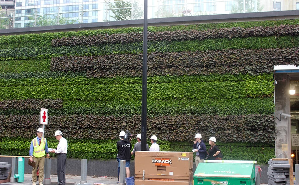 WTC Liberty Park Green Wall Construction