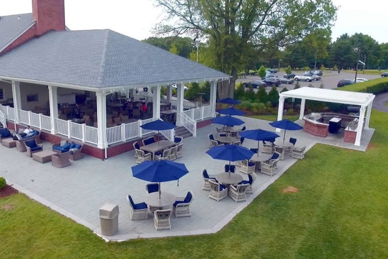 Essex County Country Club Outdoor Entertainment Area Landscaping