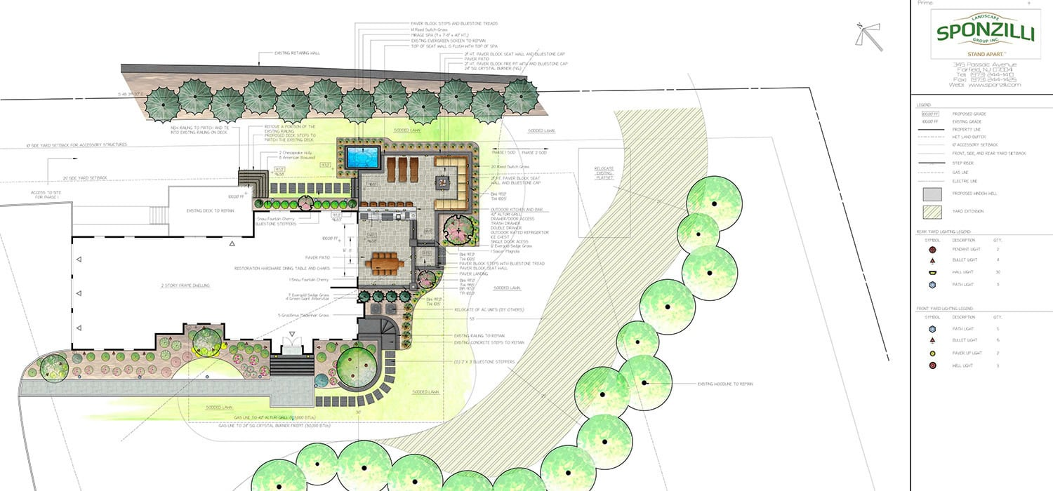 A Landscape Design Plan by Sponzilli