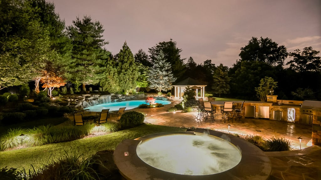 Outdoor Lighting in and Around Pool, Hot Tub and Outdoor Kitchen
