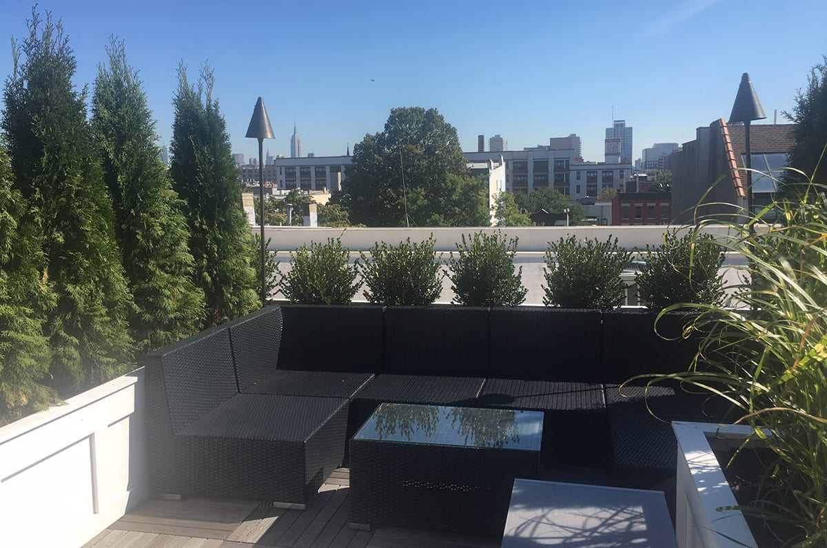 Rooftop Garden Terrace in Hoboken - Seating Area