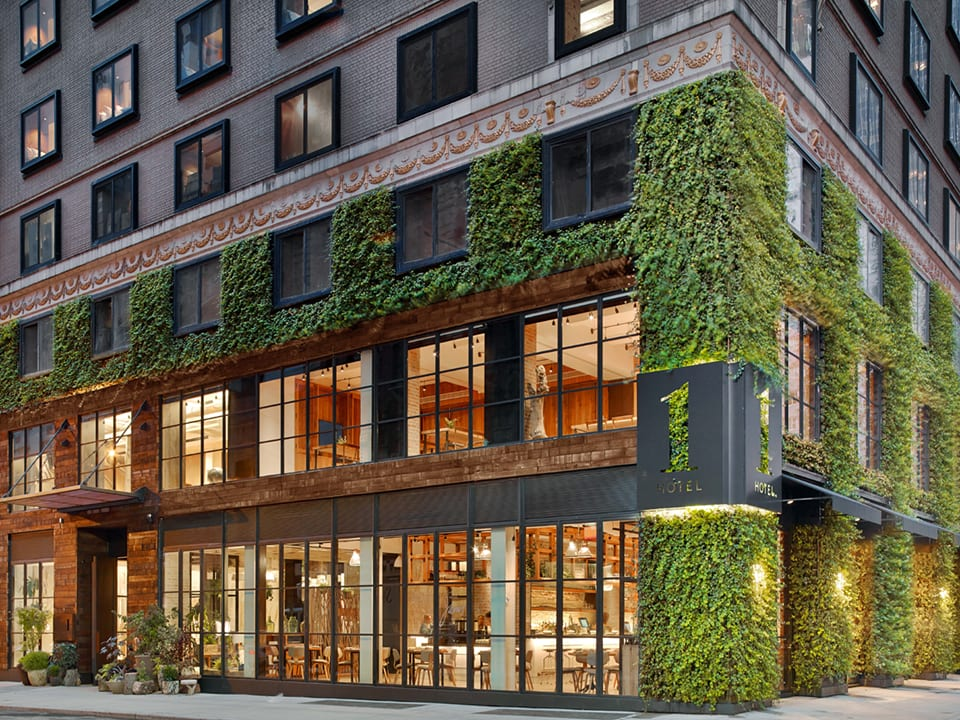 Green Wall on exterior of 1 Hotel NYC