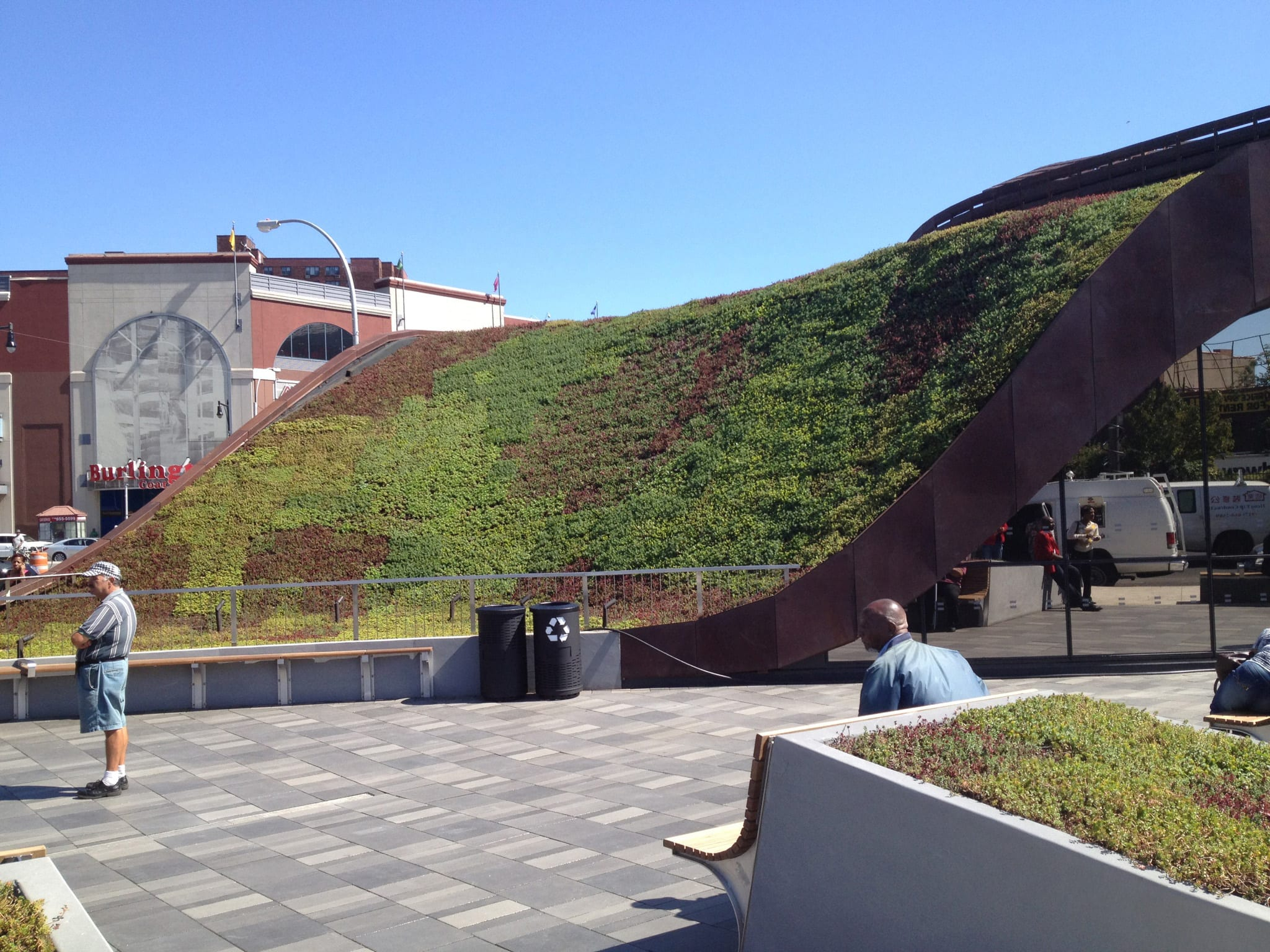 Barclays Center Green Roof Over Subway Entrance