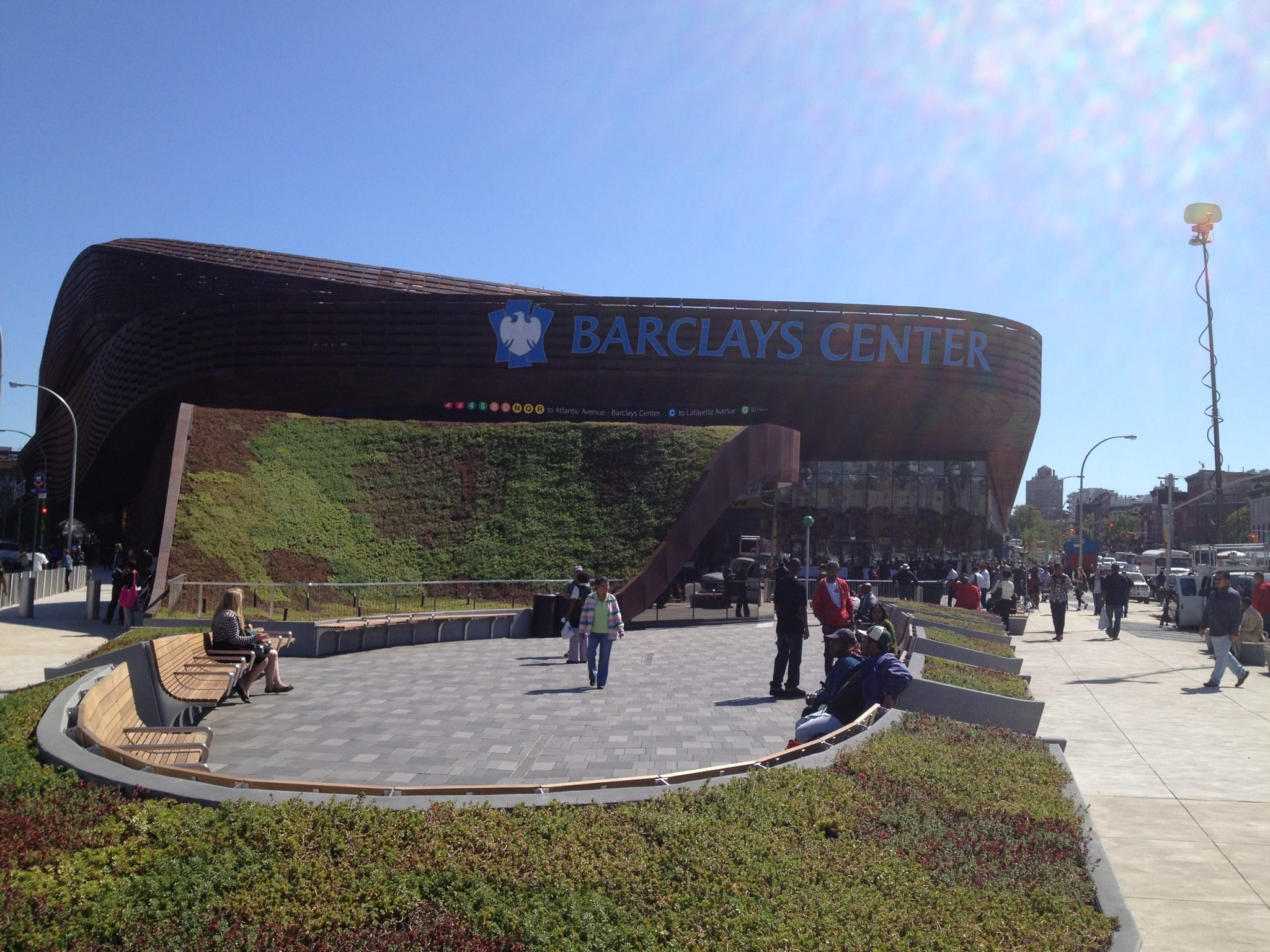 Plaza and Subway Entrance with Green Roof