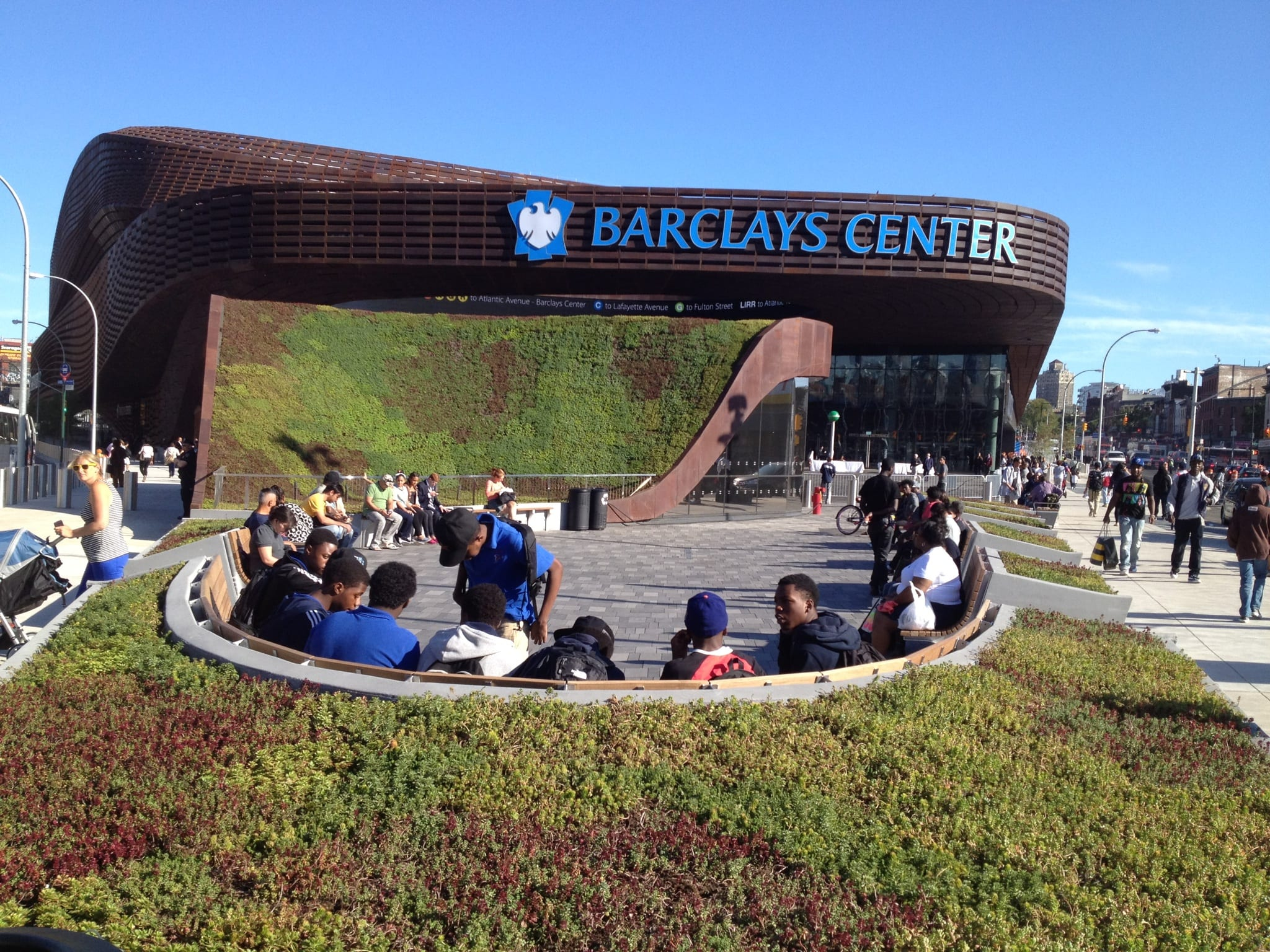 Barclays Center Plaza Landscaping