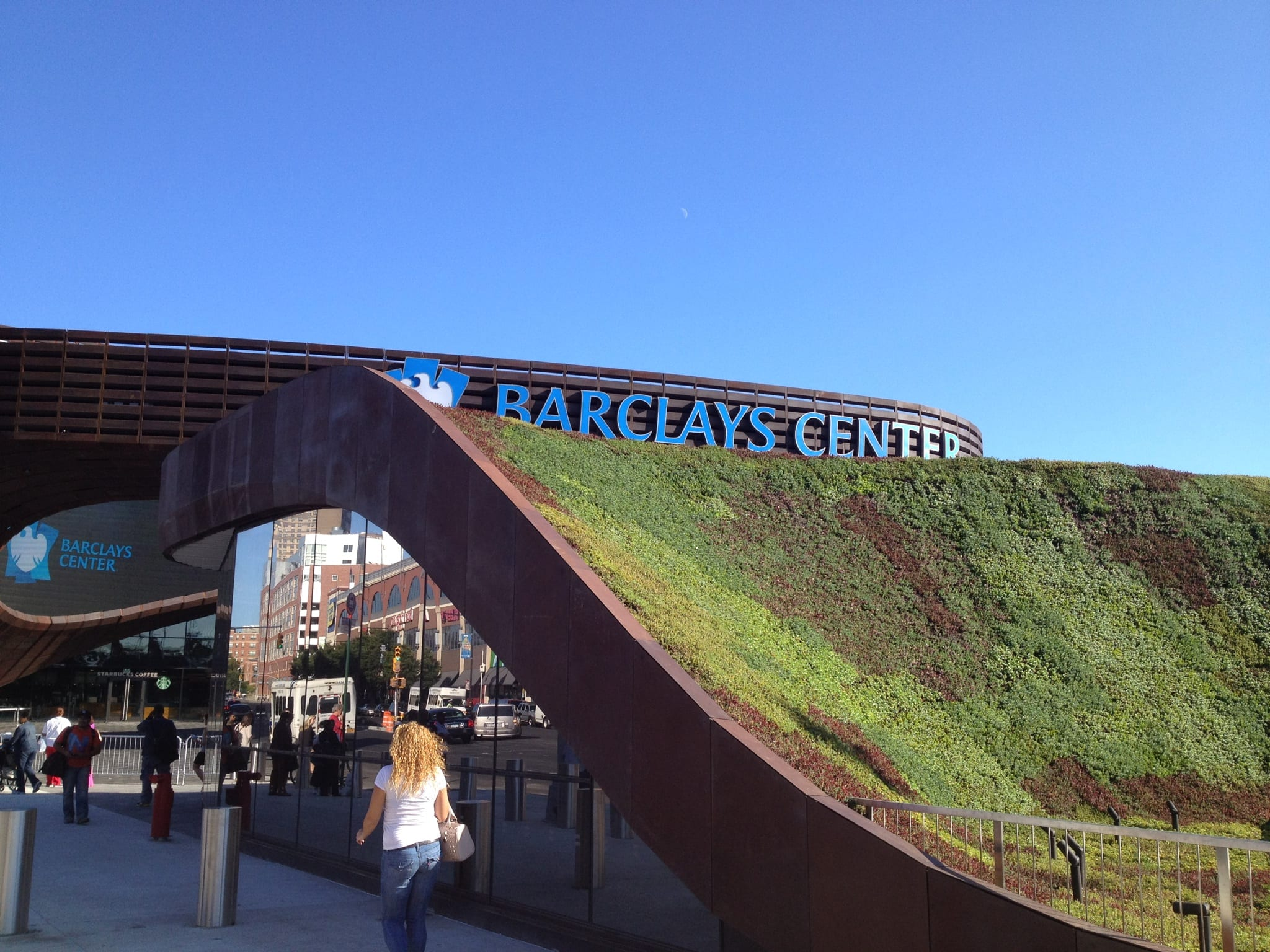 Green Roof over Subway Entrance at Barclays Center