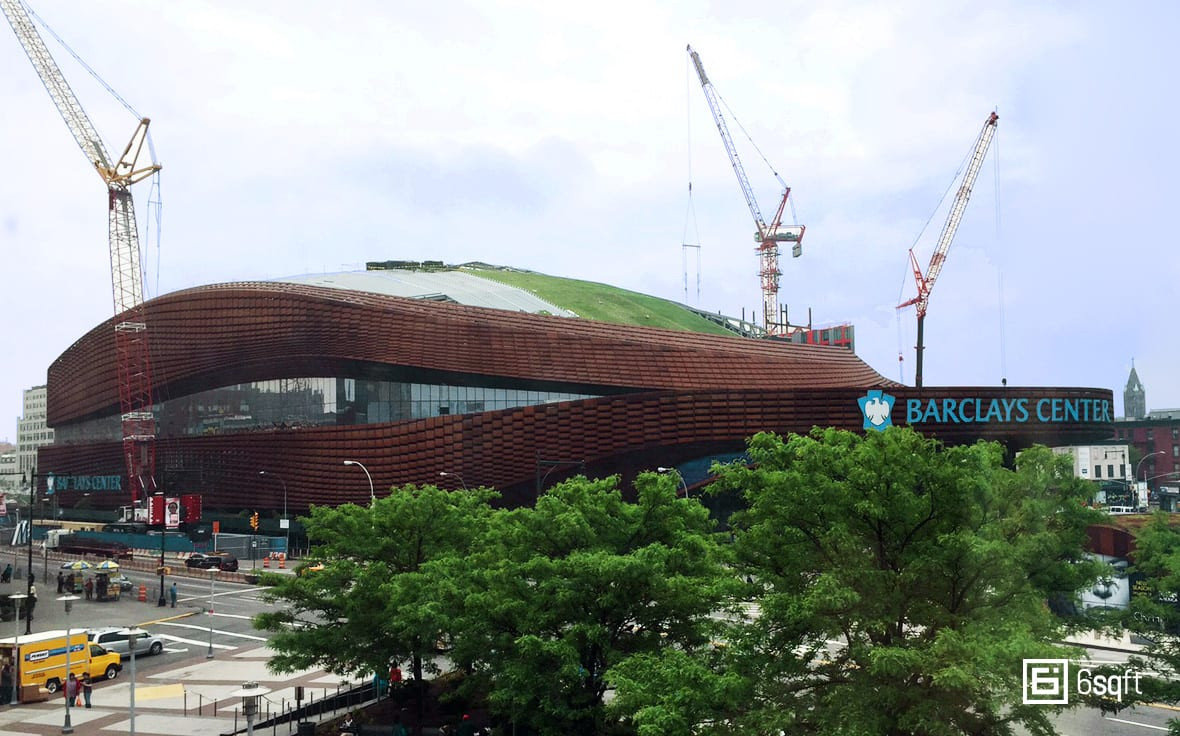 Green Roof Construction at Barclays Center