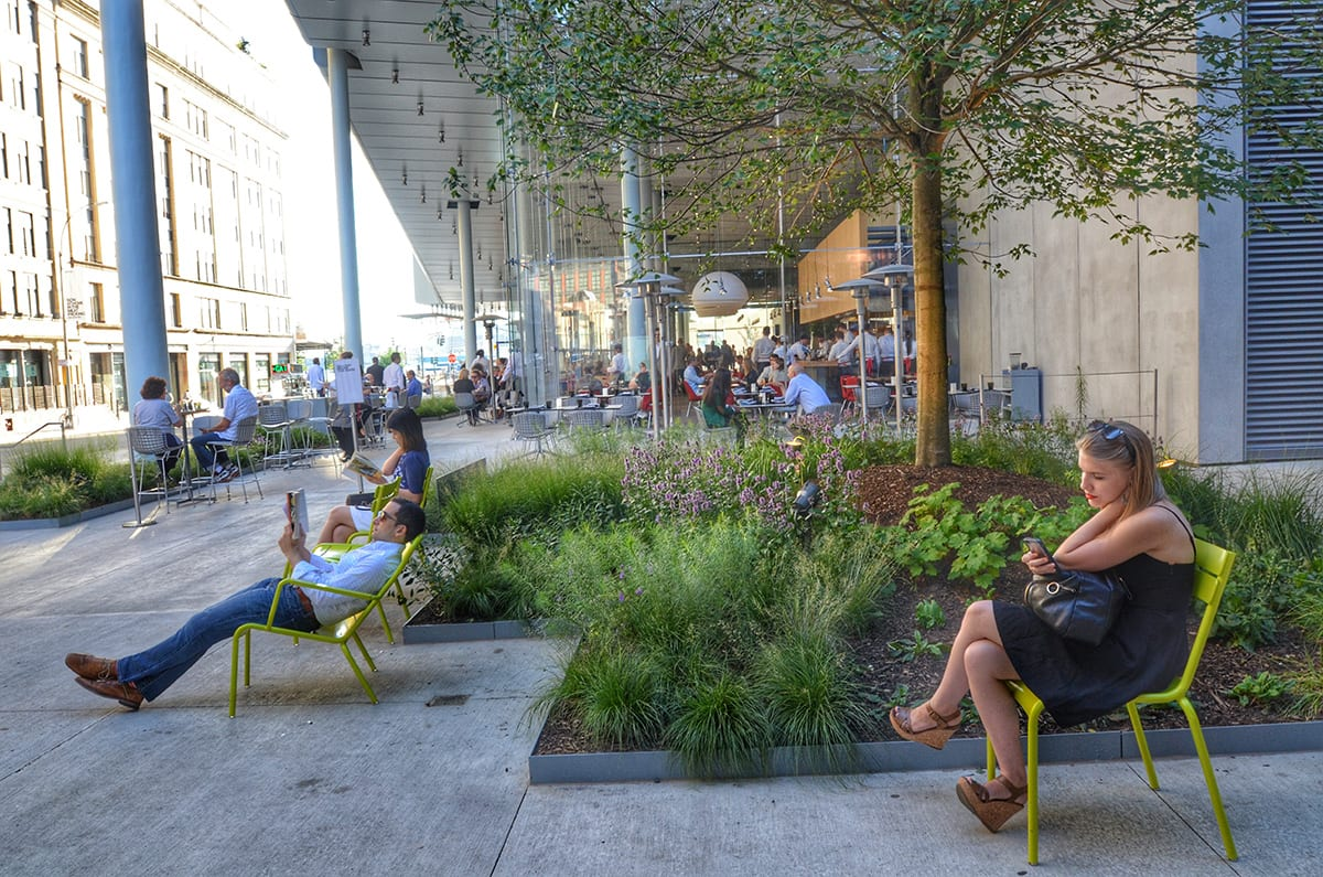 Outdoor Seating at Whitney Museum of American Art