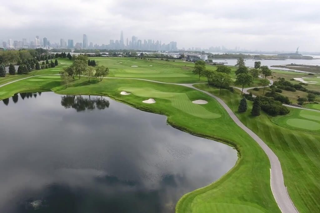 Liberty National Golf Club Aerial View