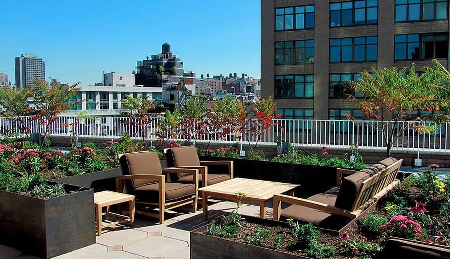 NY Genome Center Rooftop Terrace Landscaping