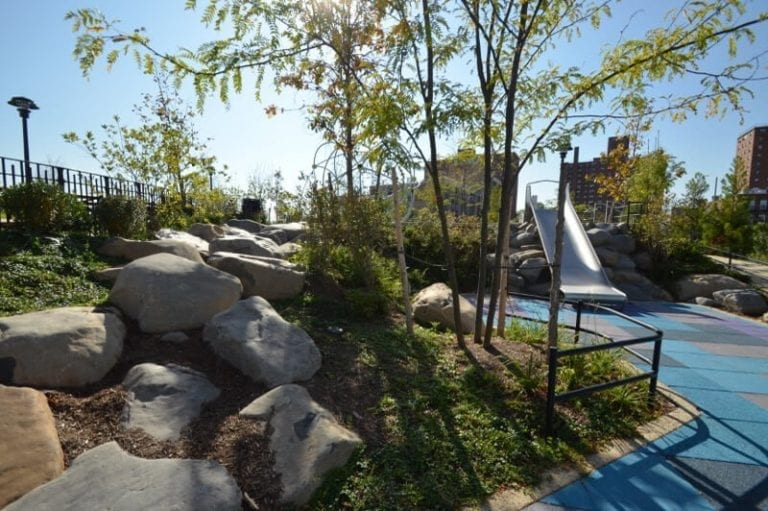 Landscaping at Coney Island Seaside Park