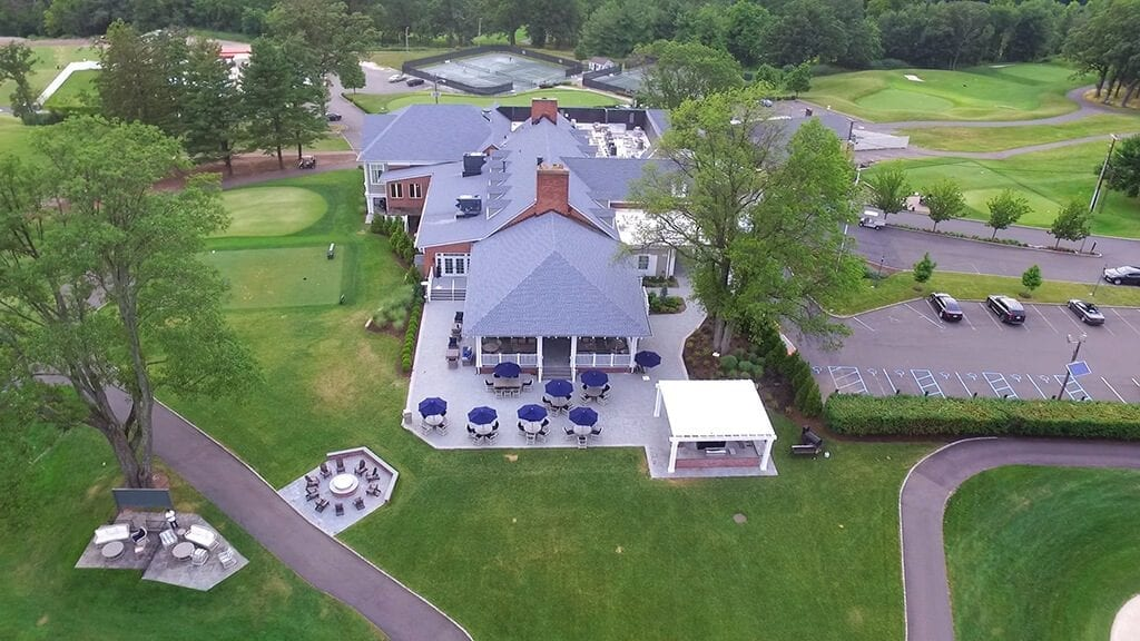 Aerial view of Essex County Country Club grounds