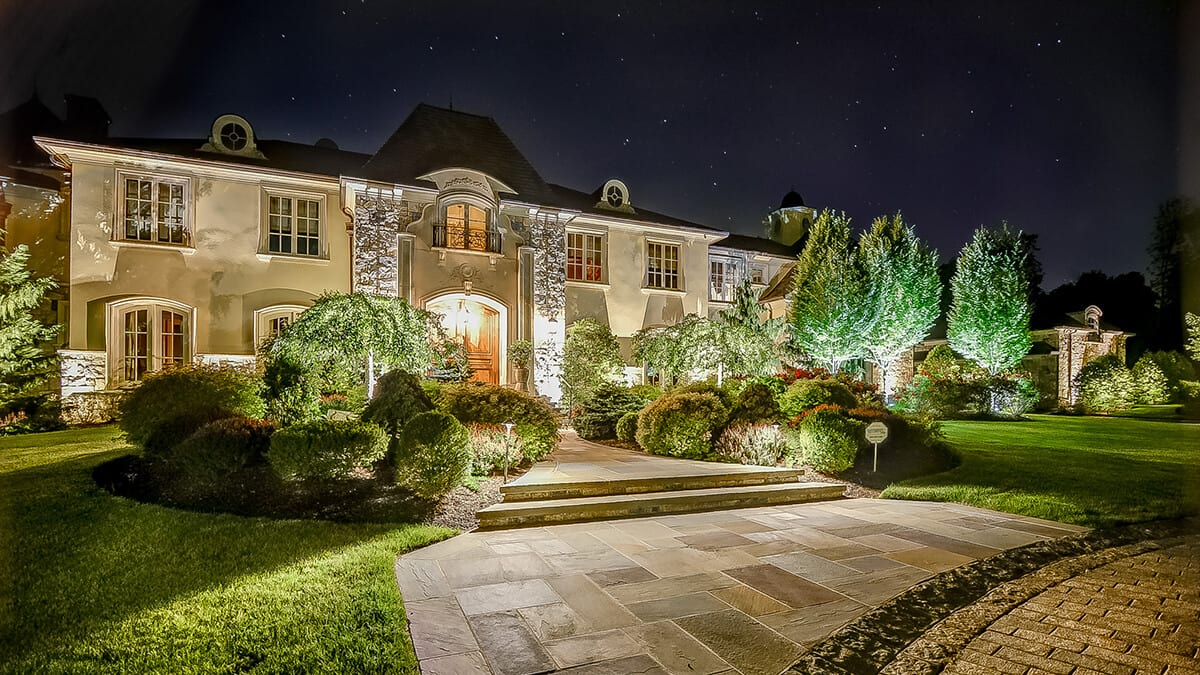 Elegant Landscape Lighting - Beautiful Home