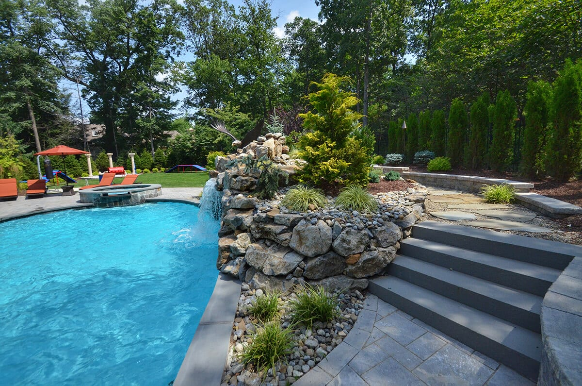Pool Gardens and Hardscaping