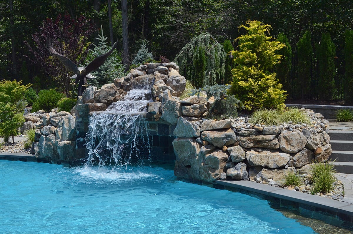 Swimming Pool with Waterfall and Grotto