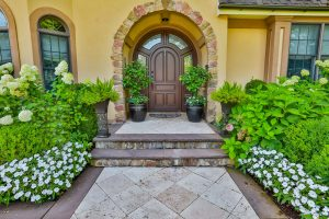 Beautiful Gardens and Steps to Fron Entrance of Home