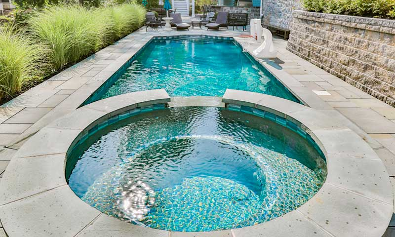 Planning-Your-Pool, pool with hot tub attached