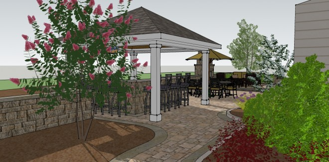 3d Landscape Design - Patio and Bar