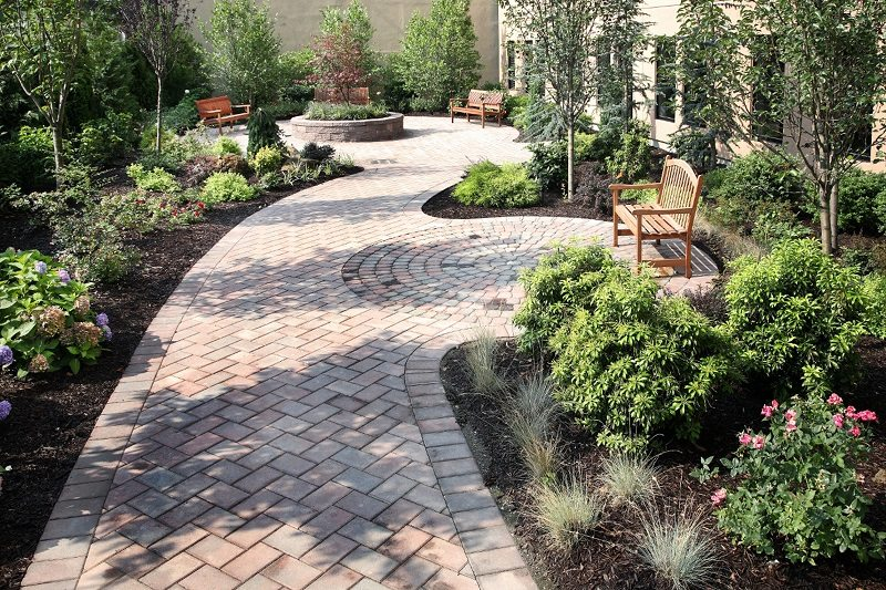 6 Tips To Create The Perfect Paths For Hardscaping Features In Landscaping  Design. brick pathway hardscape