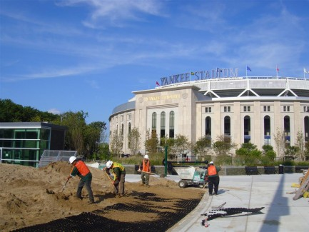 Landscape Construction at Yankee Stadium