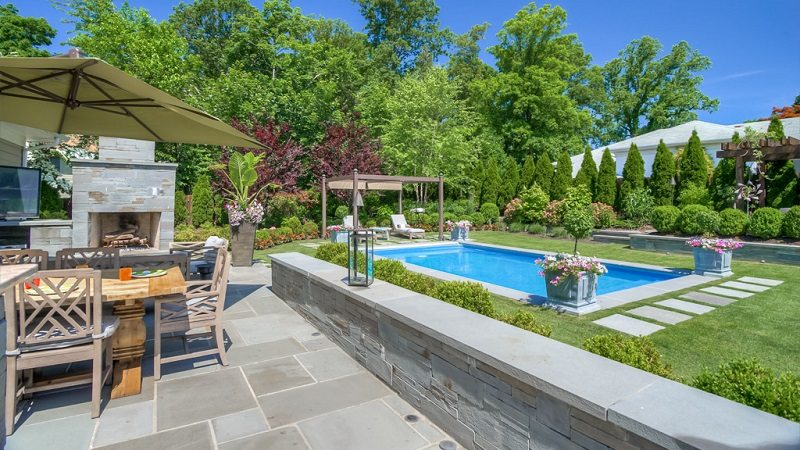 hardscaping kitchen outdoor pool