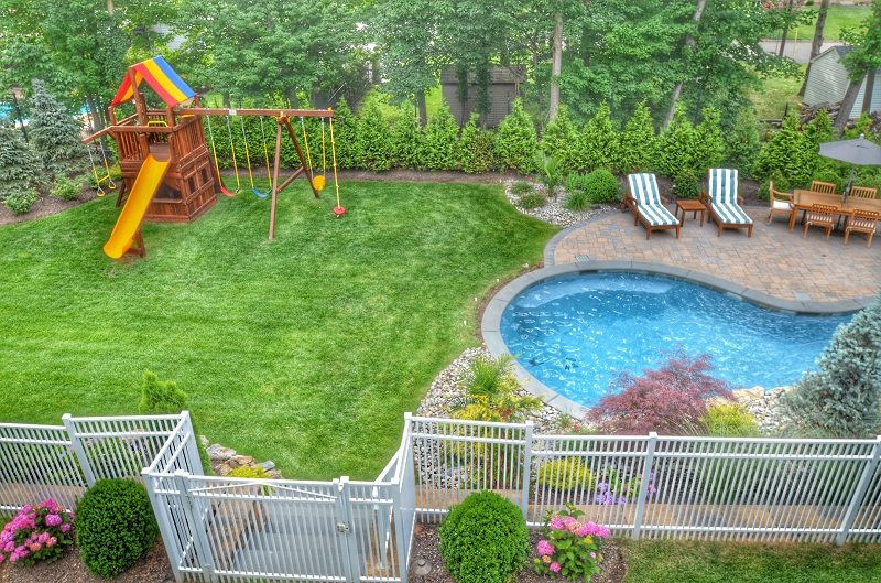 backyard pool safety fence