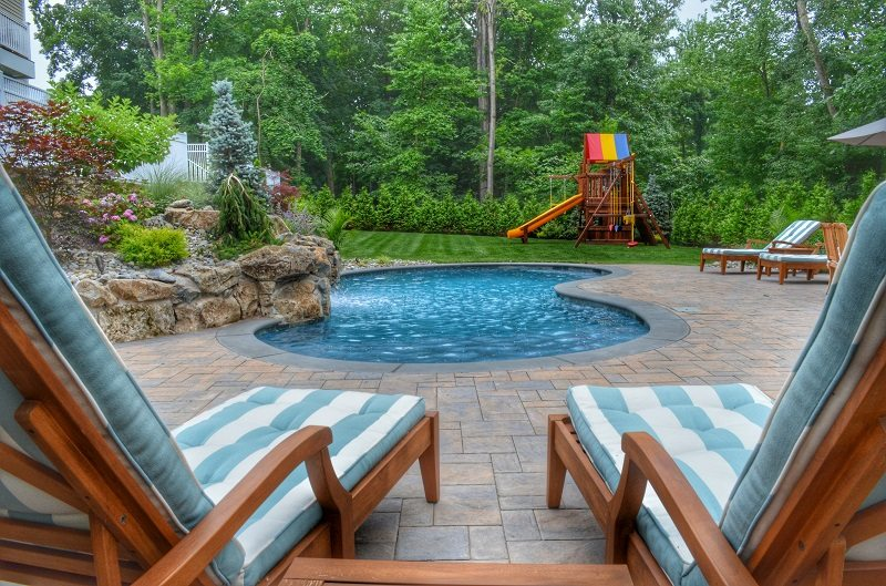 backyard pool oasis kid friendly