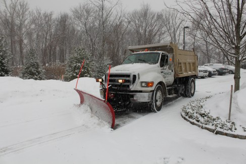 Commercial Snow Removal - Plow in Action