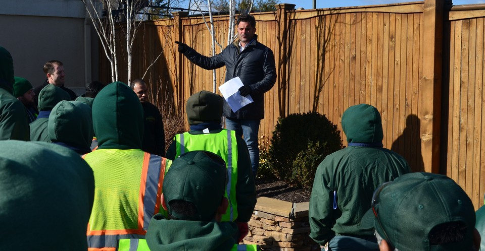 Danny Sponzilli speaking to landscapers