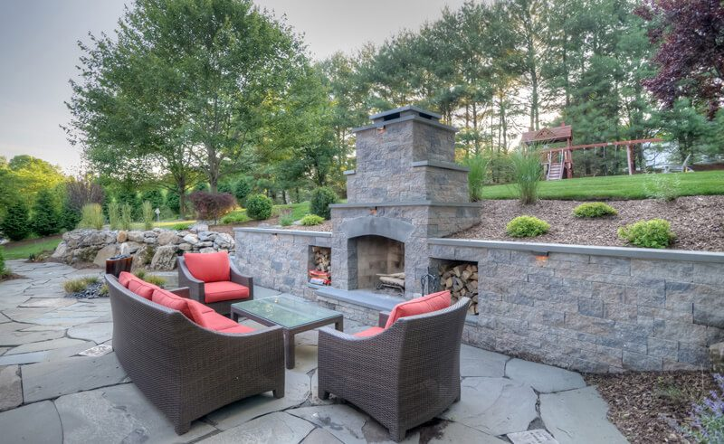 Cozy-Outdoor-Fireplace