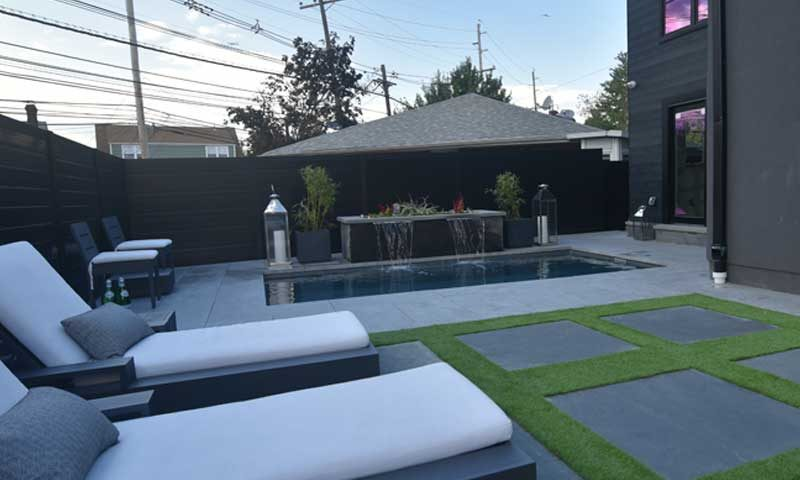 landscape-design-ithe-pool, modern landscape design with pool and seating