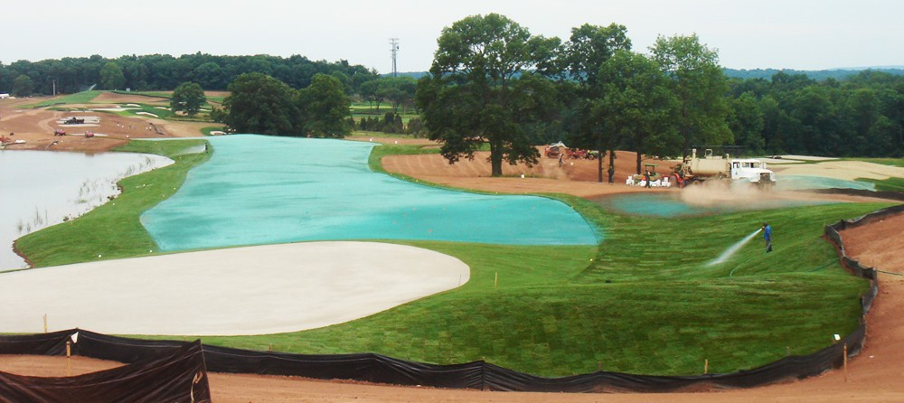 Hydroseeding a Golf Course