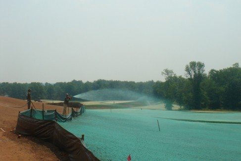 Hydroseeding at Trump Golf Course