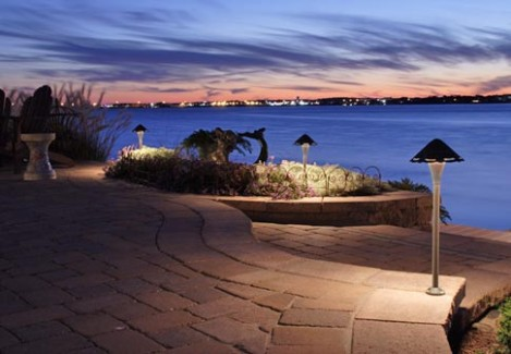 Waterfront Landscape Landscape Lighting