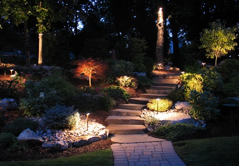 up landscape outdoor types lighting