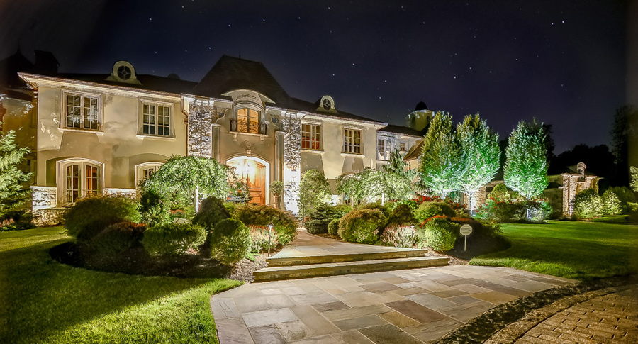 Gorgeous Landscape Lighting on Beautiful Home