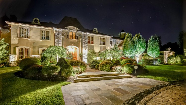 Front Yard with Landscape Lighting