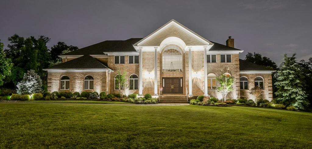 Outdoor Lighting lights up exterior of entire home