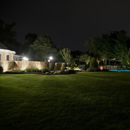 Landscaping View at Night