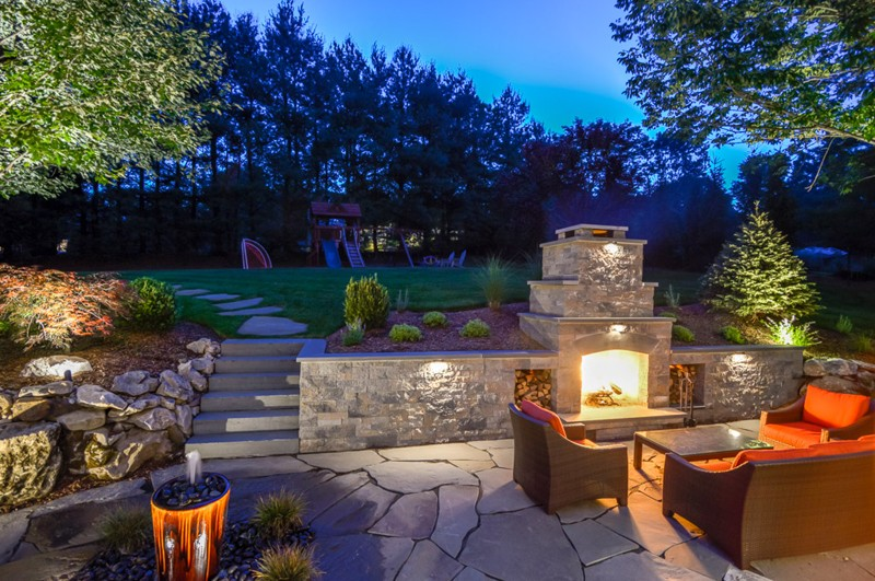 Outdoor Entertaining Area Ideas Part - 27: Outdoor Fireplace For Entertainment Area