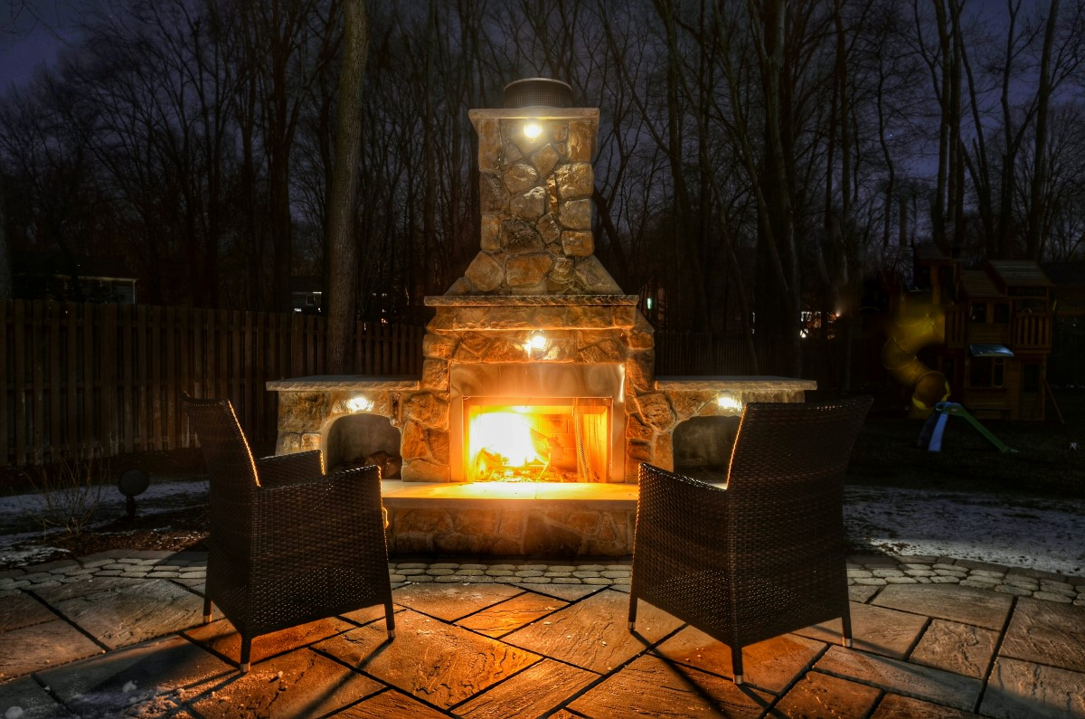 Outdoor fireplaces and fire pits sponzilli landscape group outdoor fireplace mozeypictures Gallery