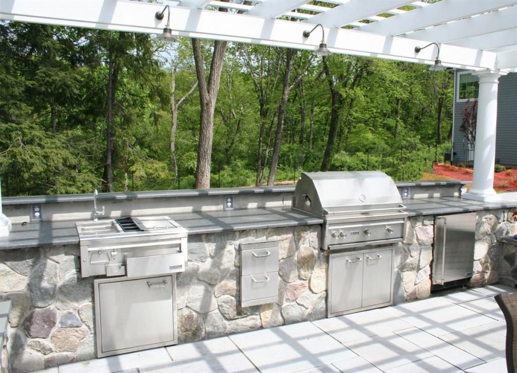 Residential landscaping harding township nj sponzilli - Outdoor kitchen appliances ...