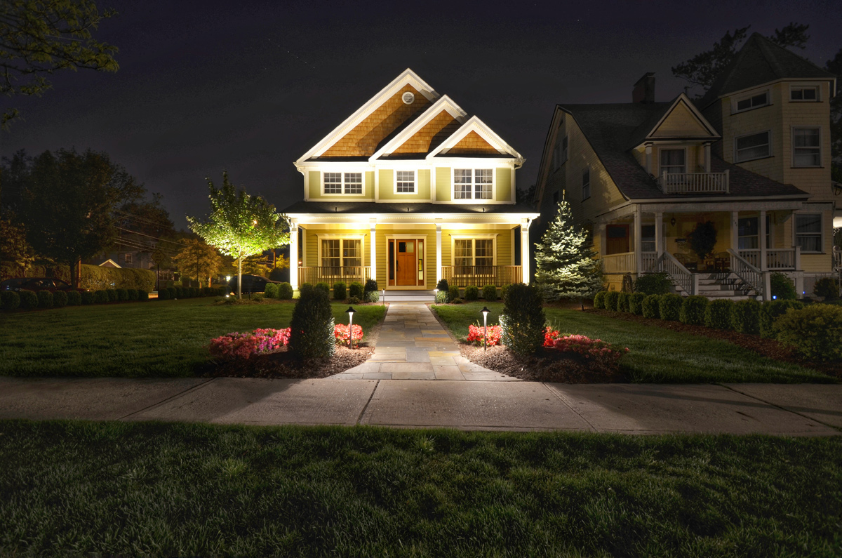 Landscape lighting design installation sponzilli - How to design outdoor lighting plan ...
