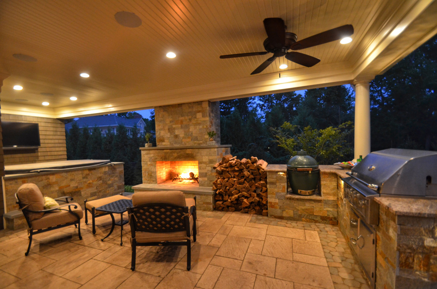 outdoor living room designs. Resort Inspired Outdoor Living  Short Hills NJ Patio Design Spaces Sponzilli Landscape Group