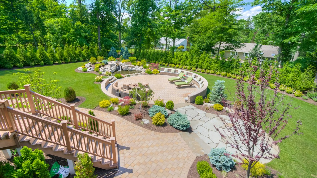 Outdoor Living Spaces With Pond North Caldwell Nj